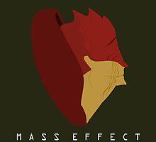 Mass Effect Urdnot Wrex Minimalist by quidvis