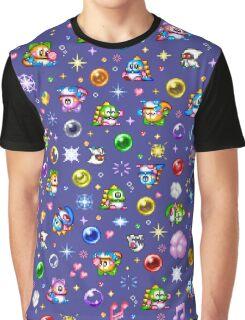 Bubble Bobble - Blue Graphic T-Shirt