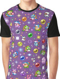 Bubble Bobble - Purple Graphic T-Shirt