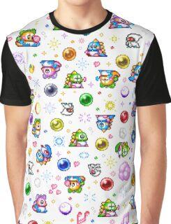 Bubble Bobble - White Graphic T-Shirt