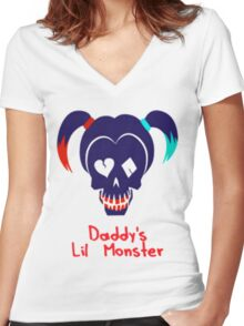 Lil Monster Women's Fitted V-Neck T-Shirt