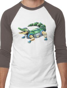 Chomp The Robo-Gator Men's Baseball ¾ T-Shirt