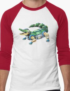 Chomp The Robo-Gator Men's Baseball ¾ T-Shirt