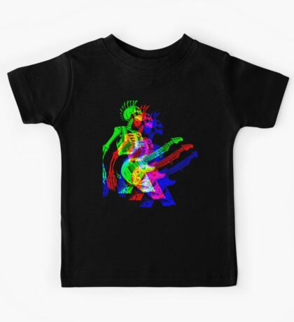 Skeleton Guitar Player 4 Kids Tee