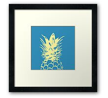 Original Yellow Pineapple Design Framed Print