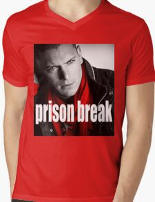 PRISON BREAK Mens V-Neck T-Shirt