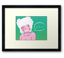 Don't Speak Framed Print