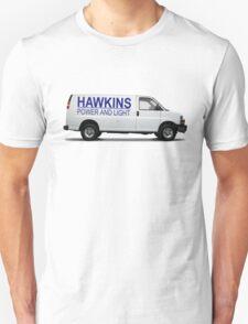 HAWKINS POWER AND LIGHT VAN - stranger things Unisex T-Shirt