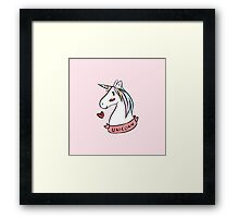 Tumblr Unicorn Framed Print