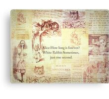 How long is forever? Alice in Wonderland Canvas Print