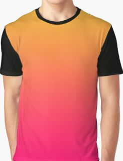 Hot Pink / Golden Heart Gradient Colors Graphic T-Shirt