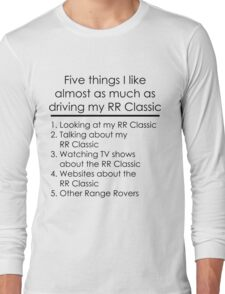 5 Things I Like - Range Rover Classic Long Sleeve T-Shirt