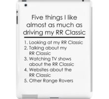 5 Things I Like - Range Rover Classic iPad Case/Skin