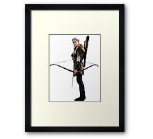 legolas with flower crown Framed Print