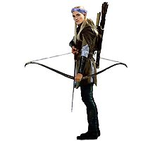 legolas with flower crown Photographic Print
