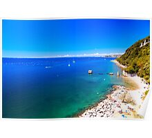summer day at the beach in the gulf of Trieste Poster