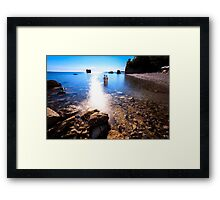 summer day at the beach in the gulf of Trieste Framed Print