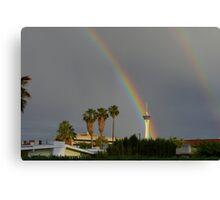 Rainbow & Stratosphere Tower Canvas Print