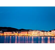 the lights of the city of Trieste Photographic Print