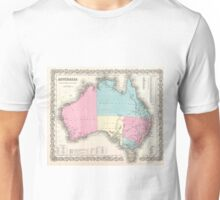 Vintage Map of Australia (1855) Unisex T-Shirt