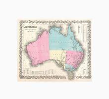 Vintage Map of Australia (1855) Unisex T-Shirt
