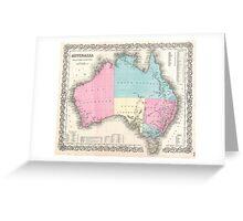 Vintage Map of Australia (1855) Greeting Card