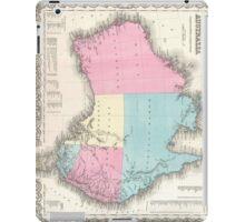 Vintage Map of Australia (1855) iPad Case/Skin