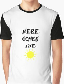 Here Comes The Sun Beatles Song Lyrics 60s Rock Music Graphic T-Shirt