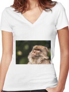 sunbathing  Women's Fitted V-Neck T-Shirt