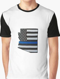 Arizona Thin Blue Line Map Graphic T-Shirt