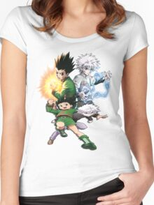 Gon and Killua  Women's Fitted Scoop T-Shirt