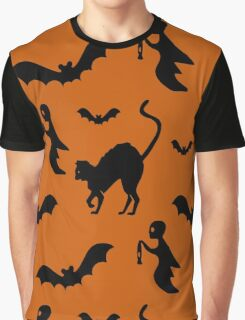 Halloween Pattern Print Graphic T-Shirt