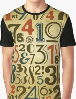 Numbers in vintage style Graphic T-Shirt
