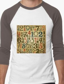 Numbers in vintage style Men's Baseball ¾ T-Shirt
