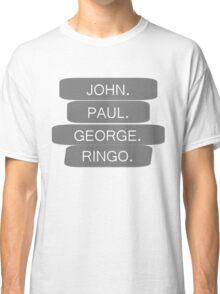 The Beatles Members Names T-shirt Classic T-Shirt