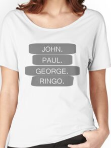 The Beatles Members Names T-shirt Women's Relaxed Fit T-Shirt