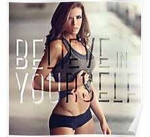 Believe In Yourself (Women's Fitness Motivation) Poster