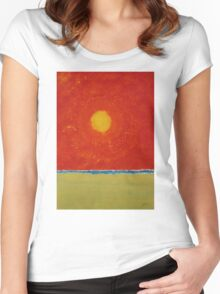 Endless Summer original painting Women's Fitted Scoop T-Shirt