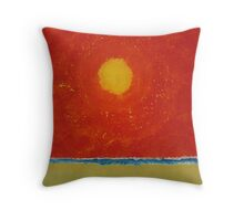 Endless Summer original painting Throw Pillow
