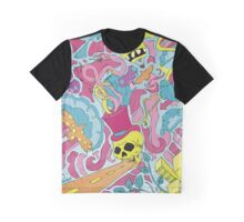 Trippy city art drawing Graphic T-Shirt