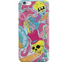 Trippy city art drawing iPhone Case/Skin