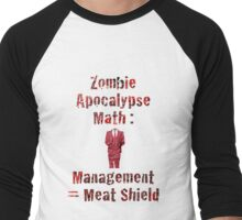 Zombie Apolcalypse Math Men's Baseball ¾ T-Shirt