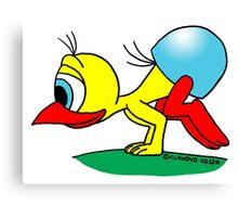 Rick the chick - Bakasana Canvas Print