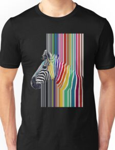 awesome trendy colourful vibrant stripes zebra Unisex T-Shirt