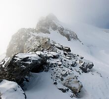 Rock Ridge at Summit of Grande Motte Tignes by Clayton Suares