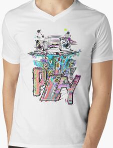 Let the Music Play ! Mens V-Neck T-Shirt