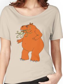Hungry Hungry Hippo Escapes Picture Plane! Women's Relaxed Fit T-Shirt