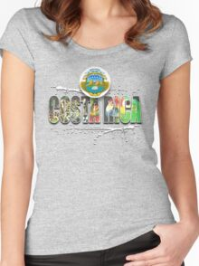 costa rica Women's Fitted Scoop T-Shirt