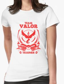 Team Valor Go! Womens Fitted T-Shirt