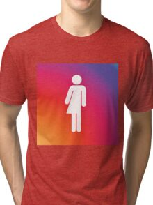 Rainbow gender neutral symbol. Tri-blend T-Shirt